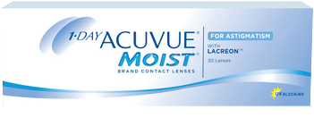 Packshot du produit 1-DAY ACUVUE® MOIST® for ASTIGMATISM
