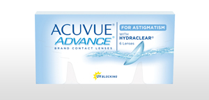 Packshot du produit ACUVUE® ADVANCE® for ASTIGMATISM